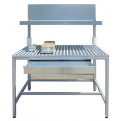 Sortiertisch / Entmischtisch zur Materialabfertigung mit Kugelrollenbahnen